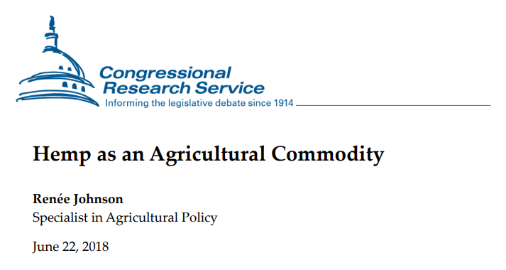 Hemp as an Agricultural Commodity - Congressional report