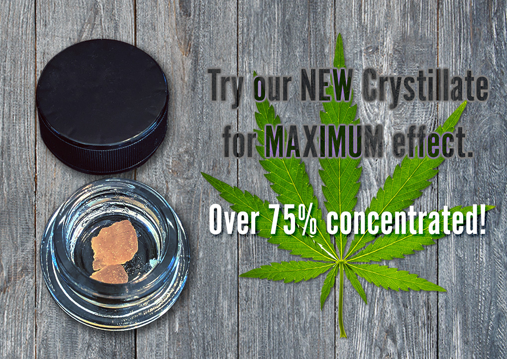 High concentrate CBD crystillate